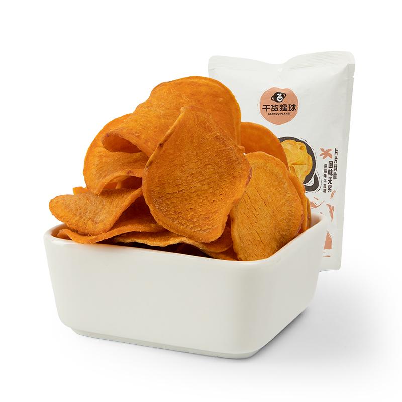 【百果园干货猩球】香酥红薯片袋装120g*5包