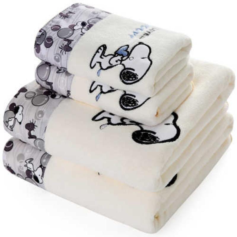 康康/纺毛巾浴巾套装吸水毛巾浴巾柔软