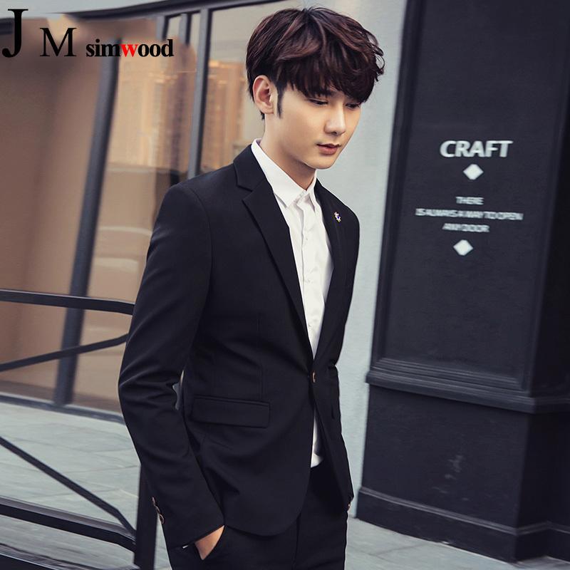 2017秋季新款西装男士休闲上衣外套青少年韩版潮流修身单件小西服