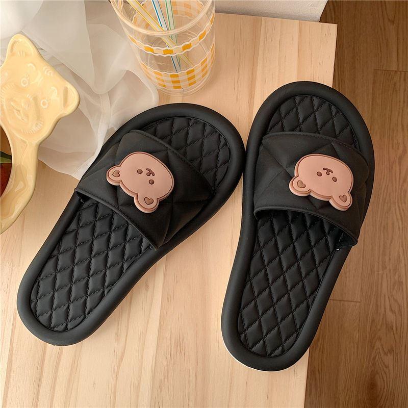 韩版可爱卡通居家拖鞋防滑洗澡室内外穿软底