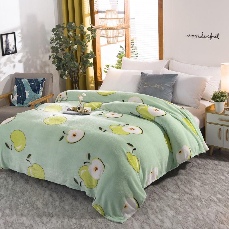 升升/铺盖两用法兰绒毛毯床单午睡盖毯