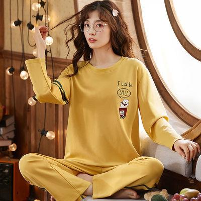 高档棉睡衣女秋冬长袖长裤套装春秋女士学生韩版宽松可外穿家居服