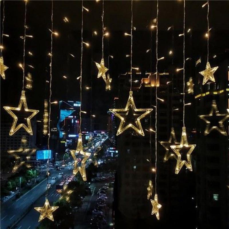 小彩灯装饰串灯插电款客厅卧室房间男孩墙面粉色灯具满天星吊灯小