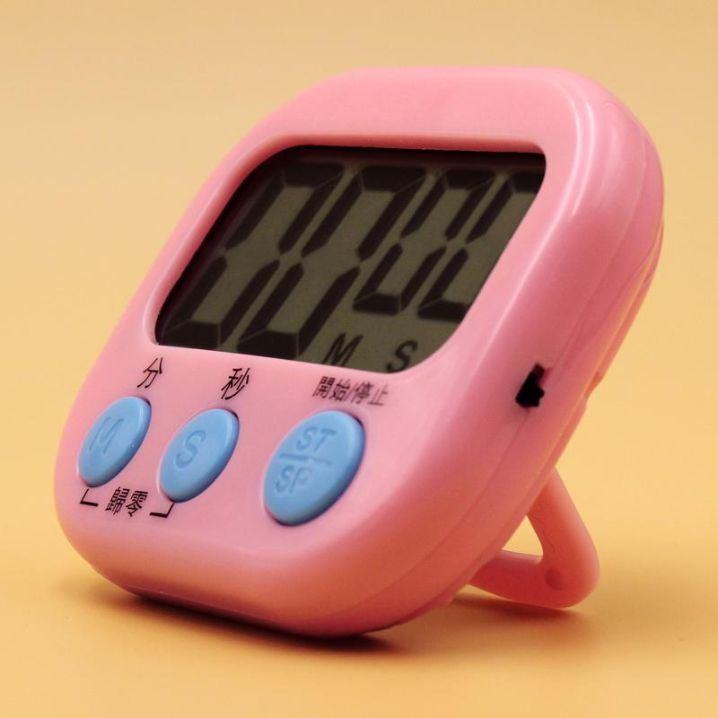厨房定时器计时器提醒器大声学生倒计时器电子闹钟秒表可爱番茄钟