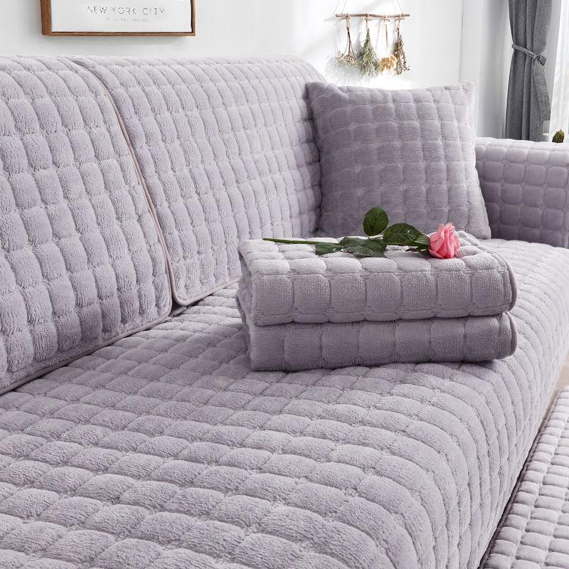信息化/冬季沙发垫四季通用简约毛绒防滑布