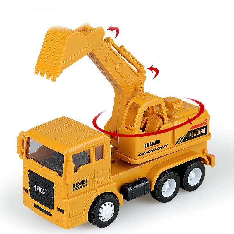耐摔儿童惯性工程车玩具仿真挖掘机翻斗车搅