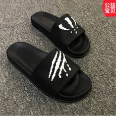 Summer men's slippers, claws, trend, indoor and outdoor, a word drag, home, bathroom, slip, men's summer sandals and slippers