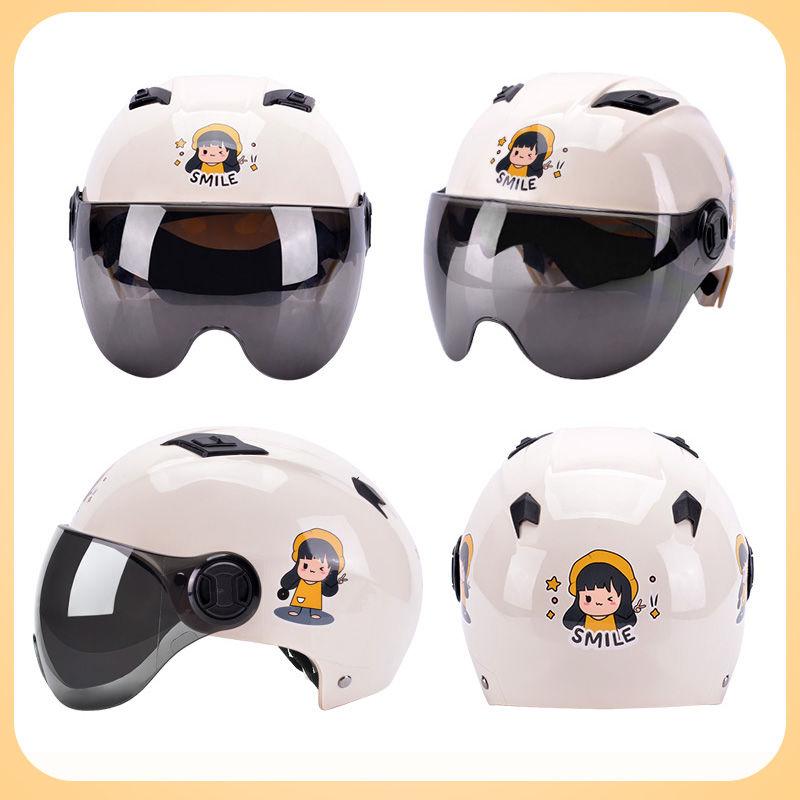 电动电瓶车头盔灰男女士夏季四季半盔安全帽