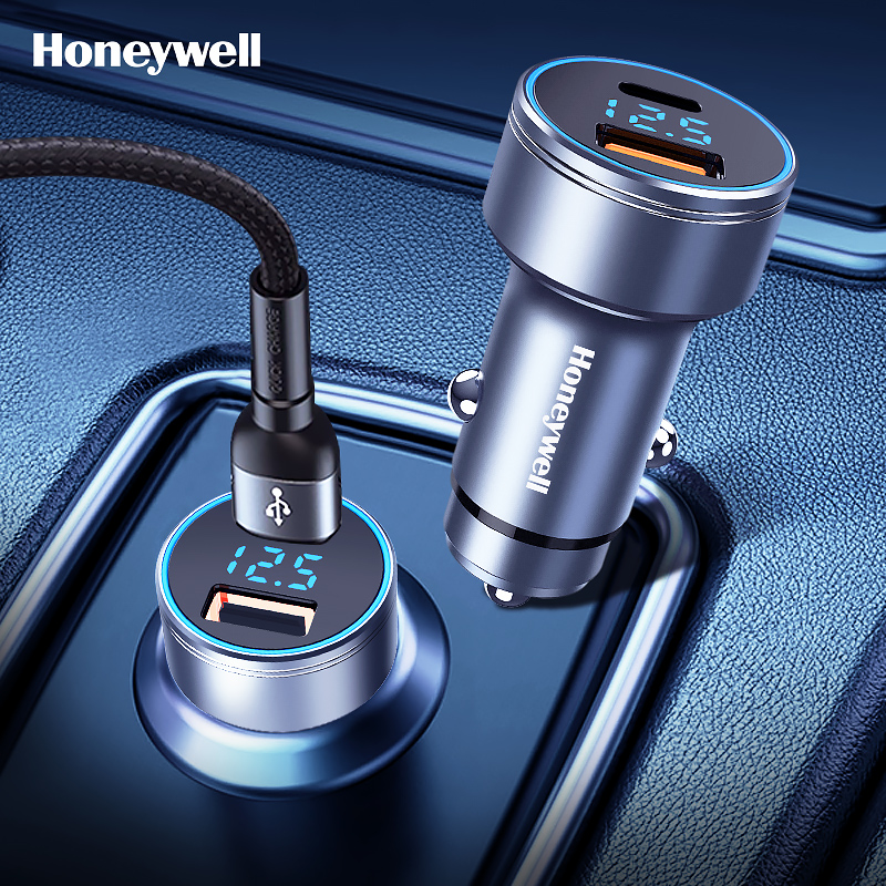 45W超级快充,数显双口输出:霍尼韦尔 QC+PD快充版车载充电器 39元包邮