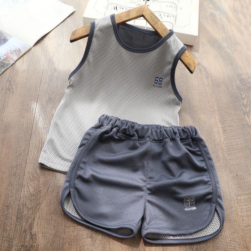 儿童速干衣套装男童女童背心短裤运动款两件