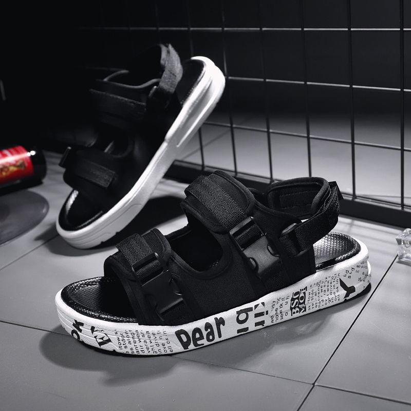 凉鞋男2021夏季青少年休闲运动情侣凉鞋凉拖沙滩鞋男防滑