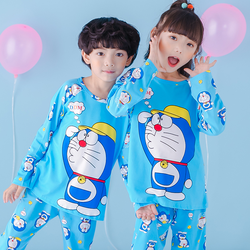 4bf2837f29 Spring and Autumn Children s Long Sleeve Pajamas Set Boys and Girls Baby  Cotton Air Conditioner Home Service 3-5 7-9 years old - BuyChinaFrom.com -  Buy ...