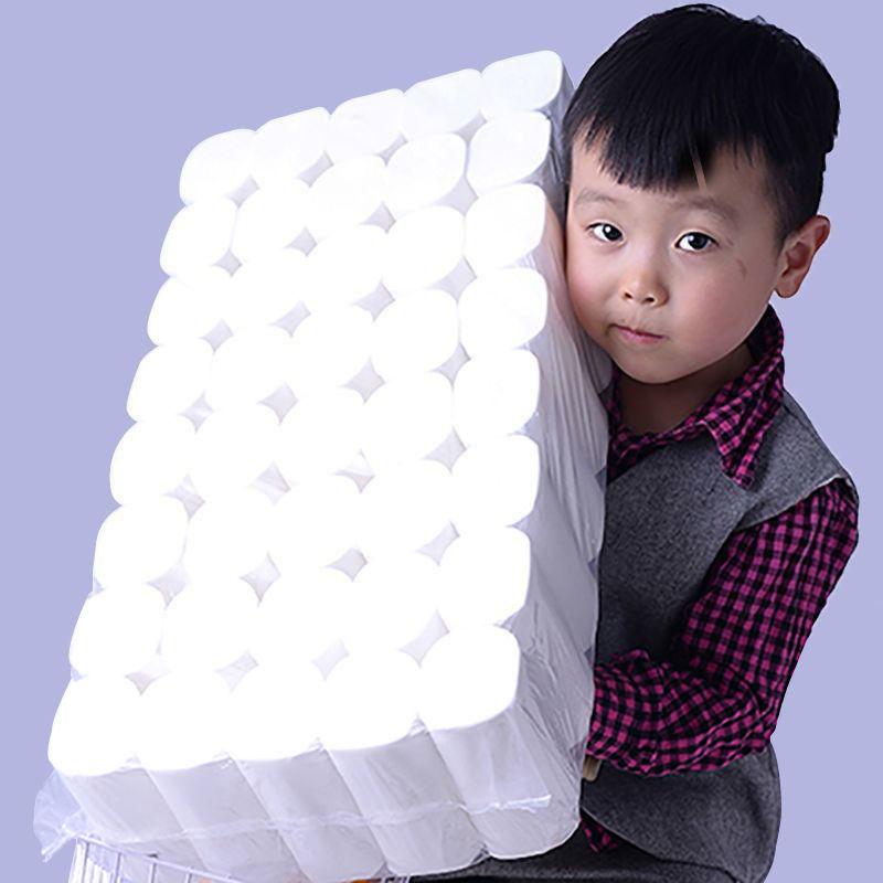 木浆卫生纸家用纸巾卷纸家庭装卷筒纸手纸