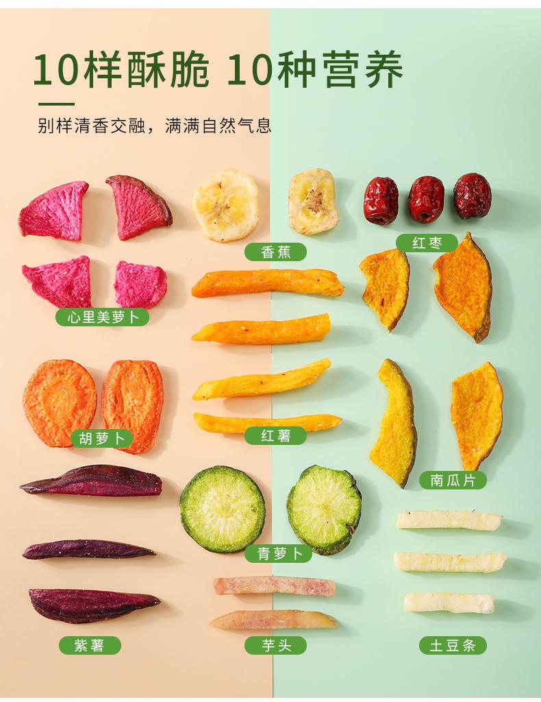 【网红零食】综合蔬果干零食250g