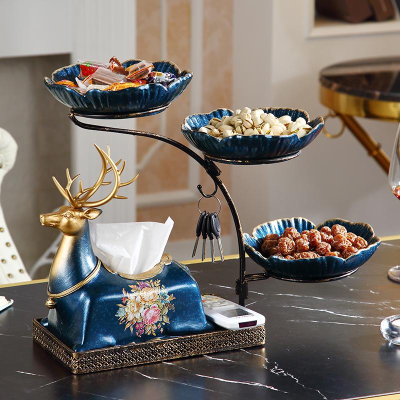 欧式创意家用盒多功能纸巾餐桌装饰品客厅高档摆件抽茶几v家用纸盒