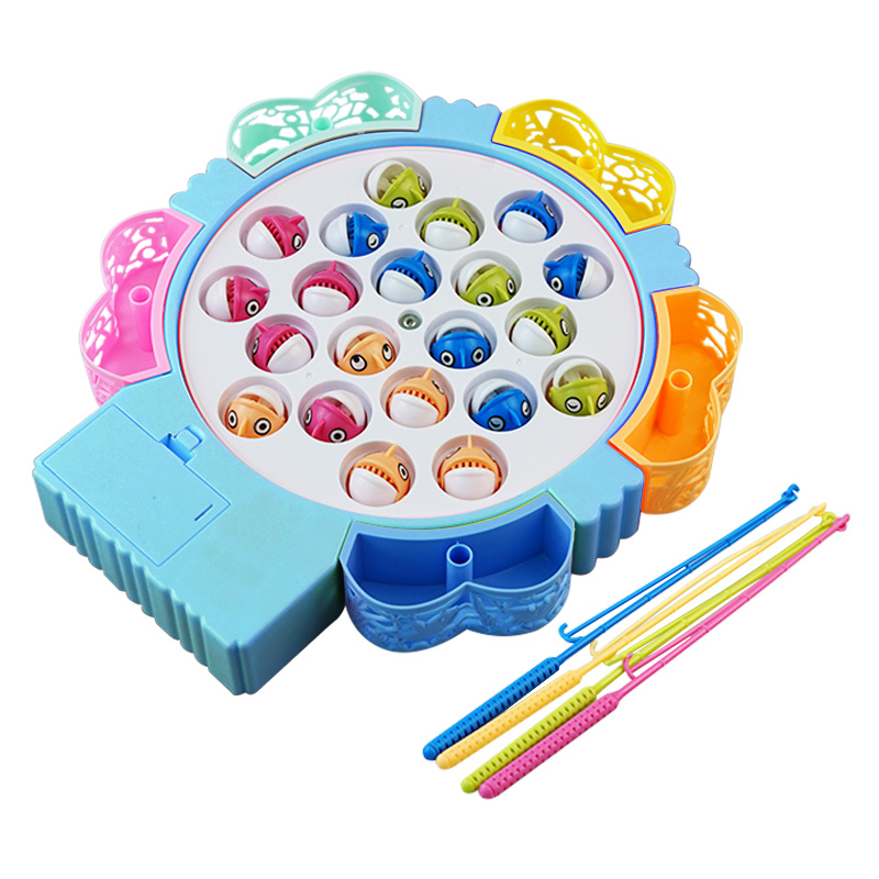 宝贝趣儿童钓鱼玩具电动磁性音乐宝宝益智早教0-1-2岁启蒙3岁礼物