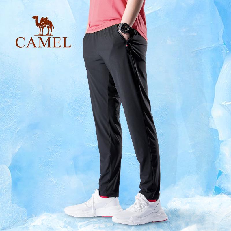 骆驼男装 裤子男夏季薄款休闲裤宽松直筒弹力轻薄运动裤男冰丝裤
