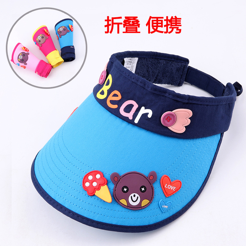 54cd6fead9b Children s sun hat 1-12 years old baby sunscreen sun hat girls spring and  summer