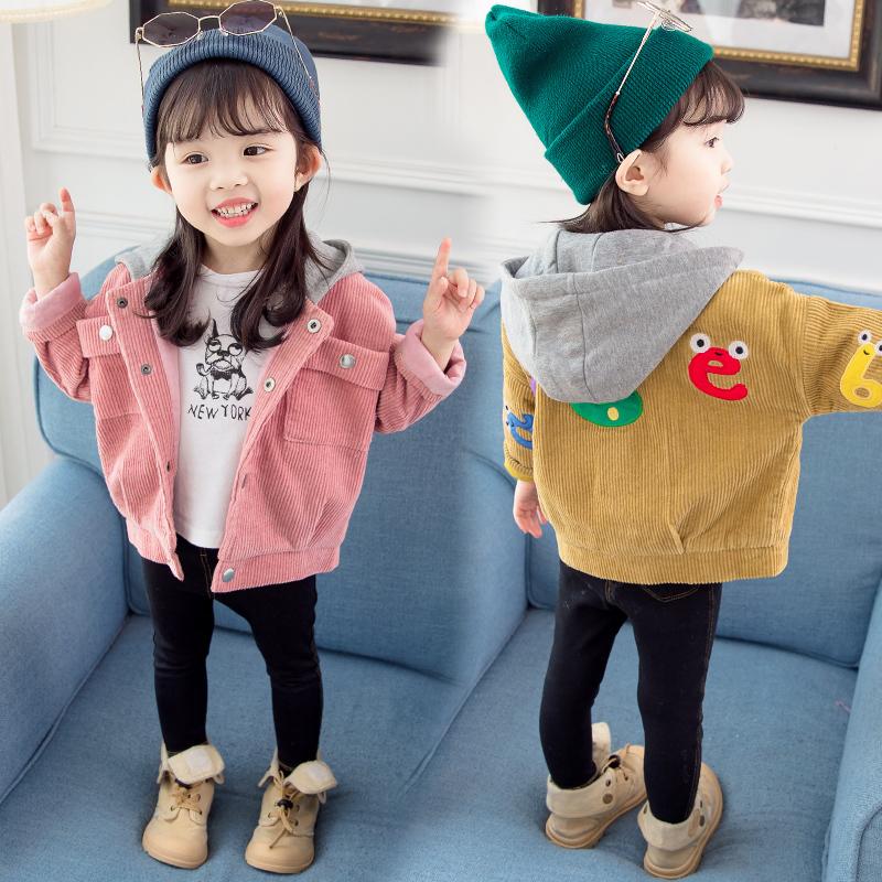 2女童春装外套2019新款韩版1灯芯绒儿童5女宝宝4秋季时髦上衣3岁6