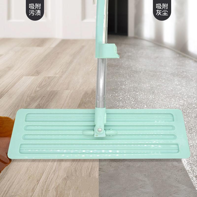 免手洗拖把家用挤水一拖净干湿两用拖地神器吸水挤水大号平板拖布