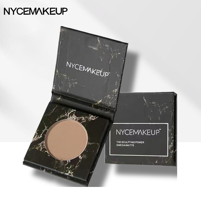 NyceMakeup修容盘NYCE黑盒粉饼立体鼻侧影发际线哑光提亮阴影裸妆