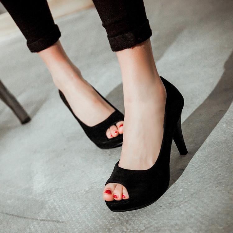 2015夏季新款高跟凉鞋时尚细跟女鞋女鞋女鱼嘴鞋加大台性感防水码