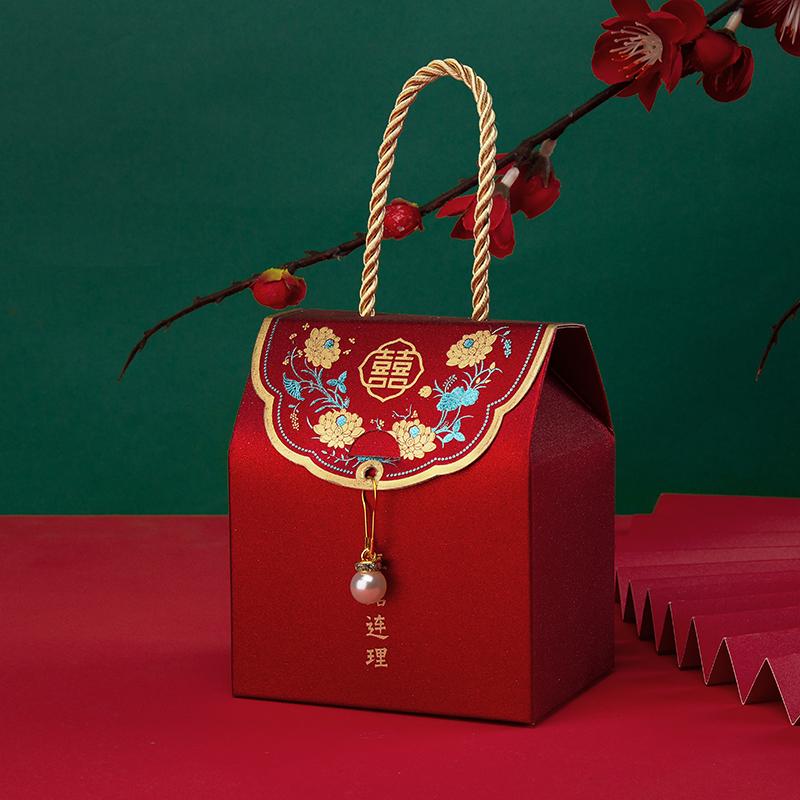 婚庆糖盒结婚装喜糖创意中国风手提礼盒