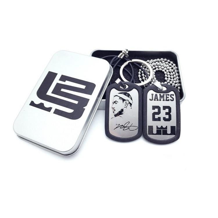 詹姆斯人物吊坠nba挂件项链篮球吊牌纪念品詹姆斯l湖人钥匙扣头像