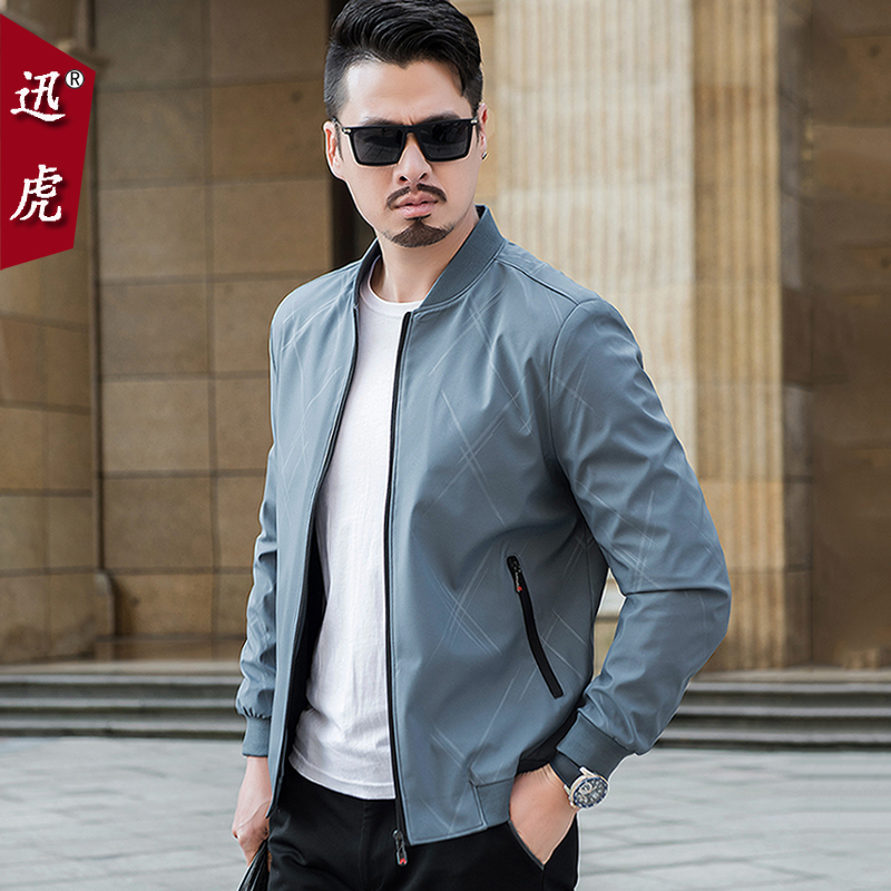 Middle-aged men's jacket spring and autumn 2020 new autumn 30 men's 40-year-old 50 middle-aged father spring and summer dress coat