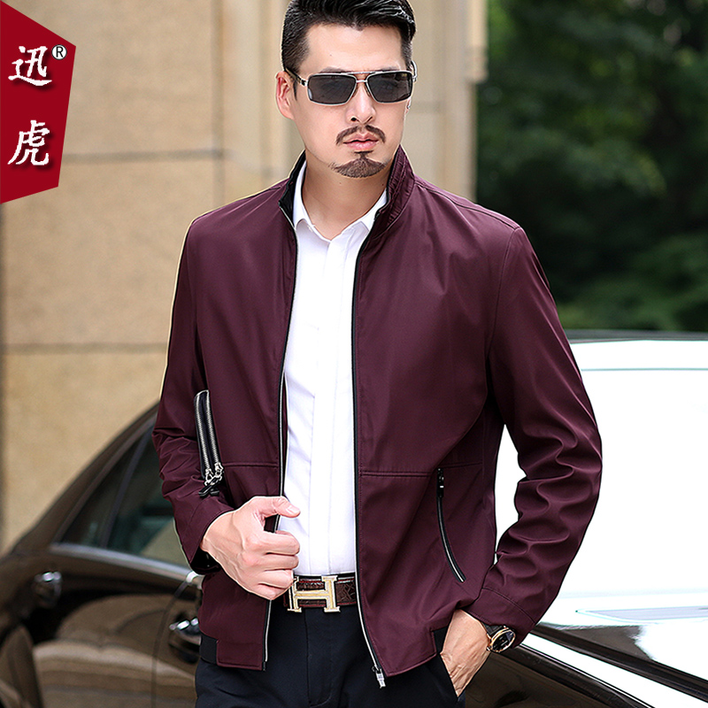 Jacket men's middle-aged men's 2018 spring and autumn new business leisure trend 30 years old 40 spring jacket handsome
