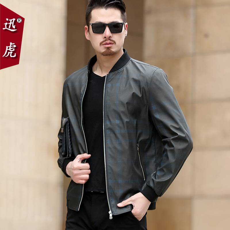 2018 new middle-aged men's jacket dad dress spring dress 40-year-old middle-aged and old spring autumn thin men's coat 50
