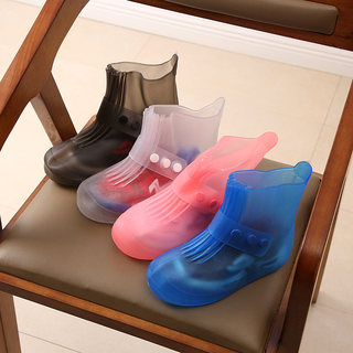Children's waterproof rain boots cover foot rain boots men and women travel snow shoes parent-child shoes waterproof non-slip middle tube shoe cover thickening