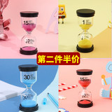 Children's brushing toothproof timer 3 three minutes 5 times 1 hour flow sand bottle leaks fighting anti-fall creative personality