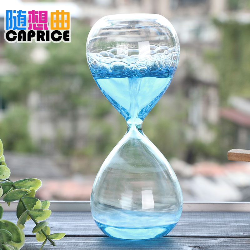 Bubble hourglass timer foam creative liquid water children's oil drop dream poses for birthday gift girls water droplets