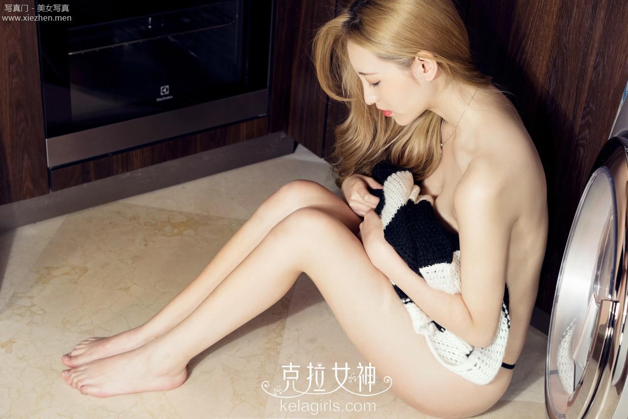 [KELAGIRLS克拉女神]2017-02-18 陈莹 金发洗衣女郎