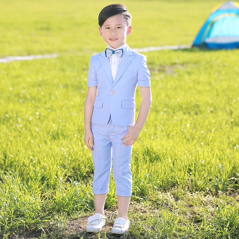 Boys suit suit three-piece set boys show costume boys dress children's dress small suit summer.