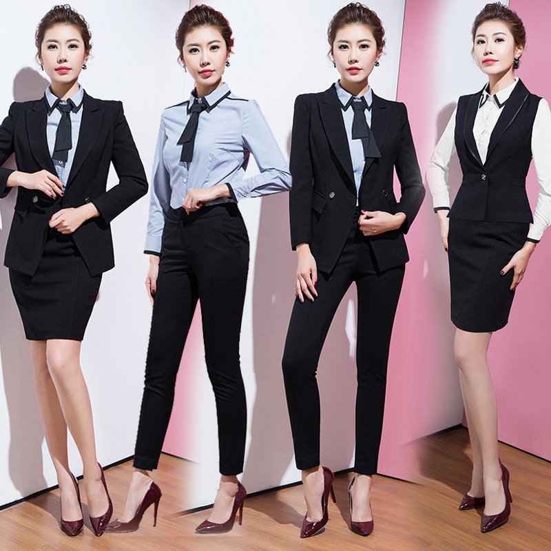 c55fe92e9f62 AI Shangchen professional dress suit women s dress autumn and winter  beautician overalls ol business wear female trousers tooling