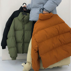 19STUDIO Winter Bread Service INS Korean version of the trend tide brand simple couple loose cotton clothing coat male