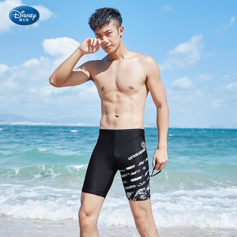 漫威泳裤男平角五分防尴尬泳衣套装温泉潮泳装专业装备大码游泳裤