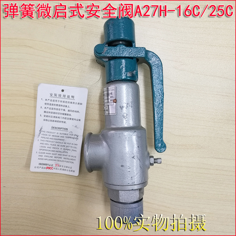A27H A27W A27Y Screw-in type Spring loaded micro-opening safety valve 6
