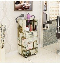 New Barber Shop Tool Cabinets Hairdressing Products Display Cabinets Hair Salon Trolley