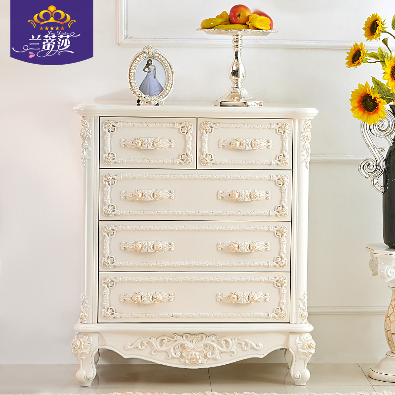 USD 410.45] European-style chest of drawers bedroom four-bucket ...