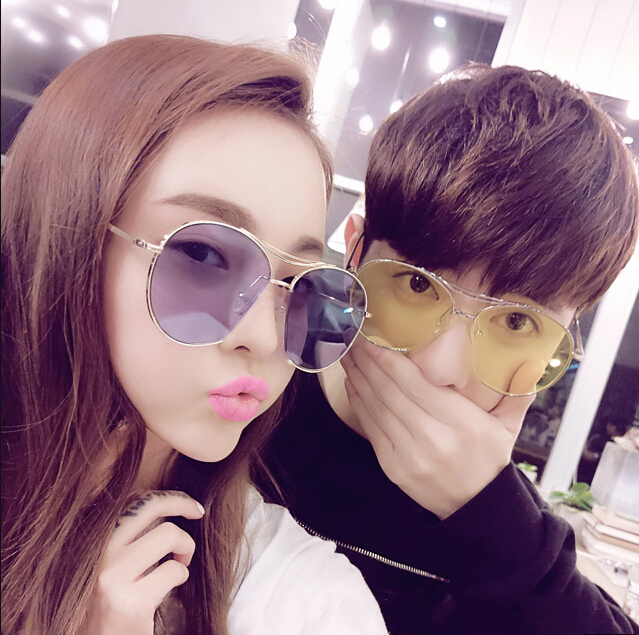 f7f5908ebc ... female tide 2017 Star Korean sunglasses round face retro personality  male · Zoom · lightbox moreview · lightbox moreview ...