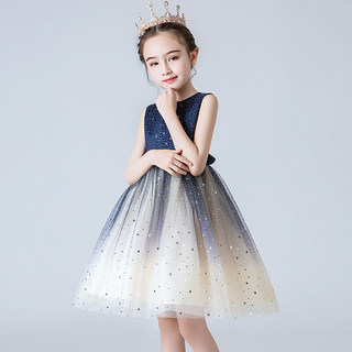 Girl's dress princess dress dress dress dress dress dress dress dress dress dress for children with pomp and pomp dress for children and girl host's birthday piano performance dress