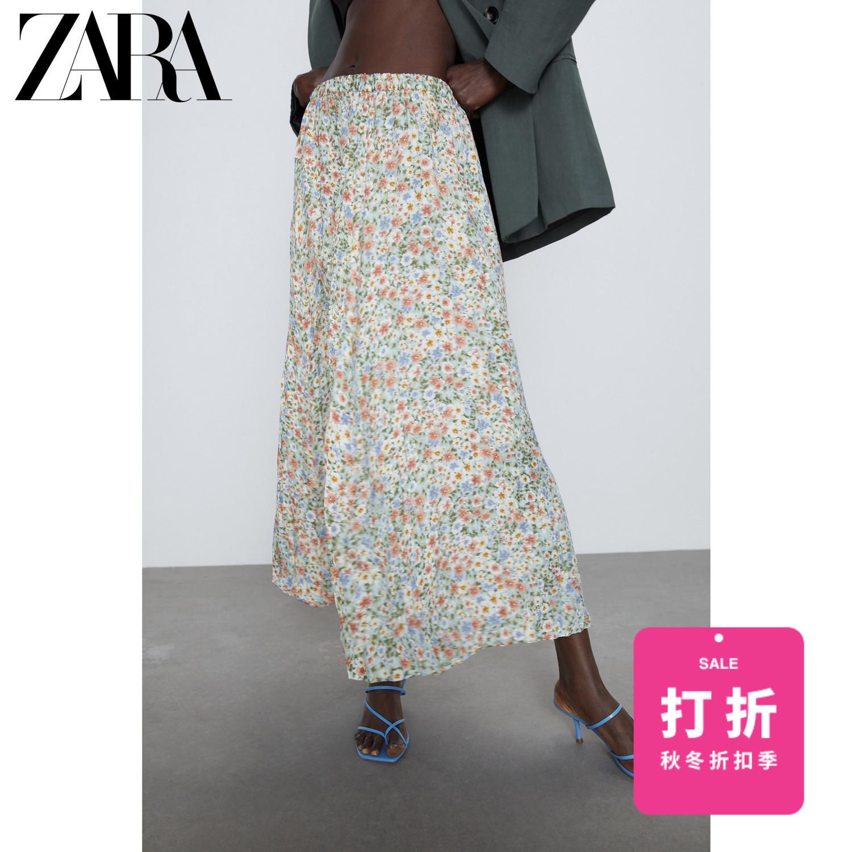 ZARA【打折】 女装 皱痕效果印花裙 09479071330