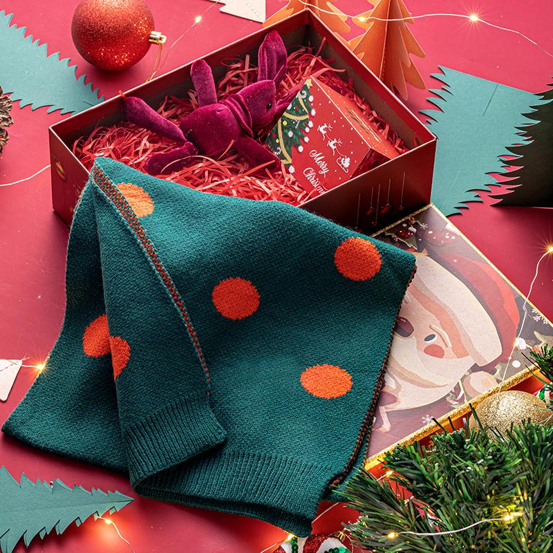 圣诞节礼品盒平安夜高档水杯包装空盒精美保暖围巾创意圣诞糖盒子
