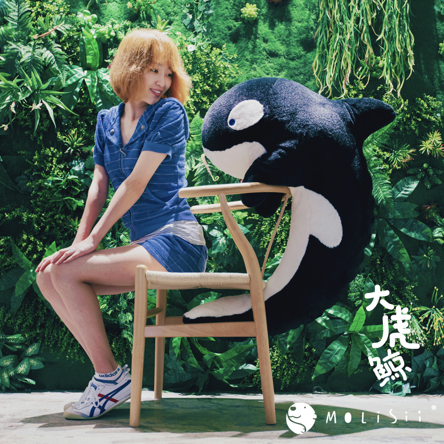 Original design (Molisii Jasmine)big killer whale sleep cushion boyfriend pillow creative gift