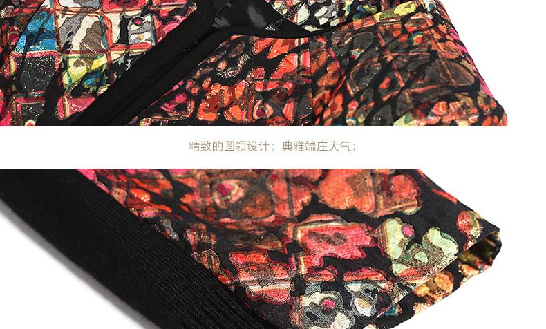 JAN AN KHÔNG CÓ Jane Enouqiu new slim giảm béo nhỏ phù hợp với in ấn OL áo khoác ngắn nữ J310098SY