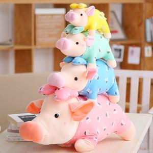 大号猪猪毛绒玩具公仔卫衣小猪布娃娃玩偶抱枕婚庆娃娃生日礼物