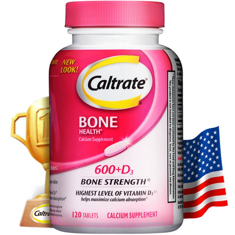 美国进口,国食健字:120片x2件 Caltrate钙尔奇 维生素D3碳酸钙片